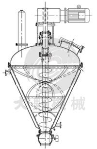 日本大野机械立式螺带混合机锥形结构图
