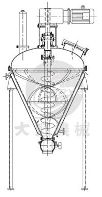 日本大野机械立式螺带混合机产品设计图