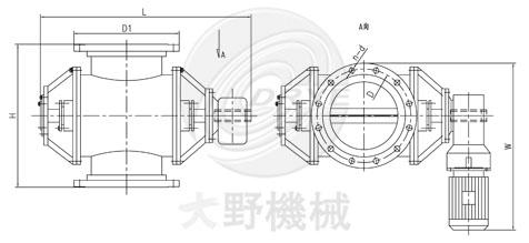 日本大野机械星形给料阀设计图