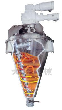 日本大野机械立式锥形混合机产品内部图