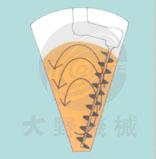 日本大野机械立式锥形混合机产品原理图